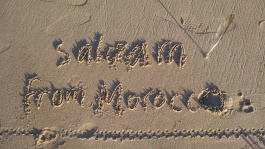 Writing in the sand is so therapeutic!